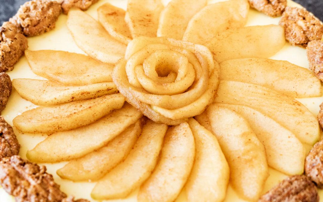 Cinnamon Apple and Pecan Cheesecake